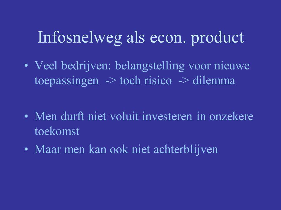 Infosnelweg als econ. product