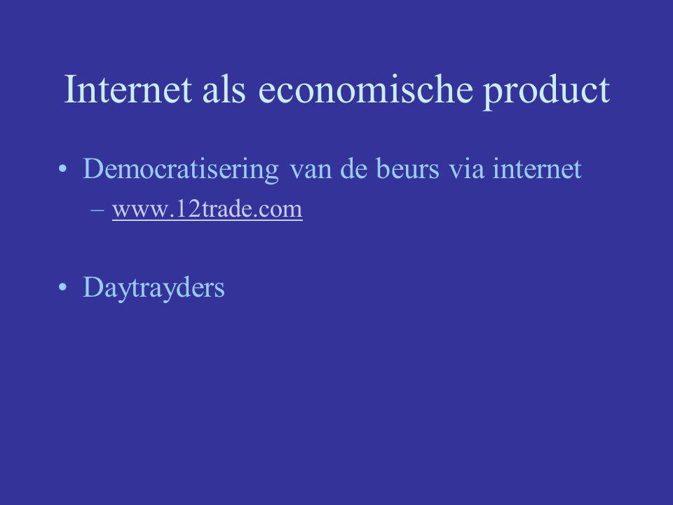 Internet als economische product