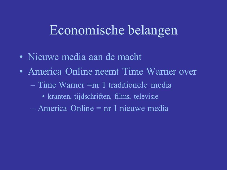 Economische belangen Nieuwe media aan de macht