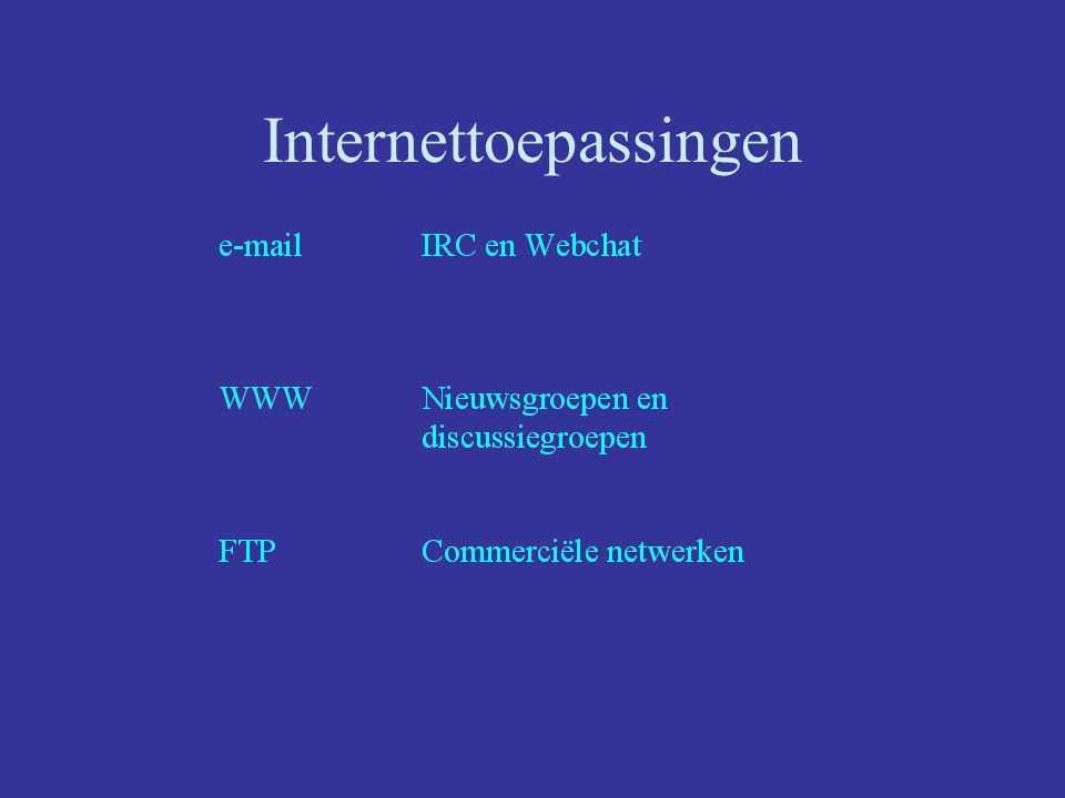 Internettoepassingen