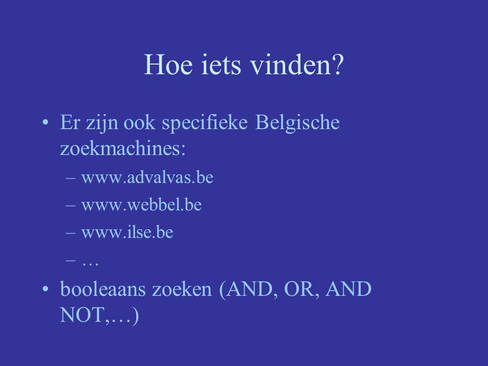 Hoe iets vinden Er zijn ook specifieke Belgische zoekmachines: