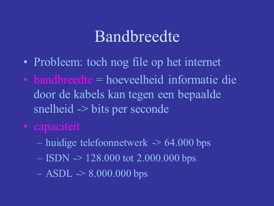 Bandbreedte Probleem: toch nog file op het internet