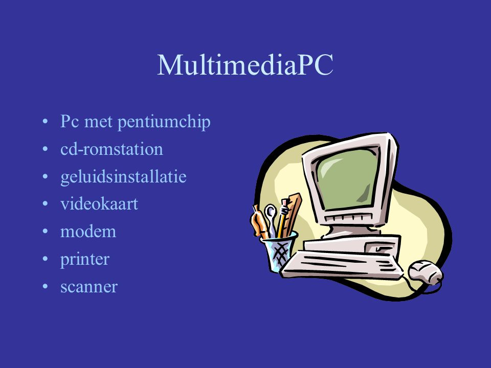 MultimediaPC Pc met pentiumchip cd-romstation geluidsinstallatie