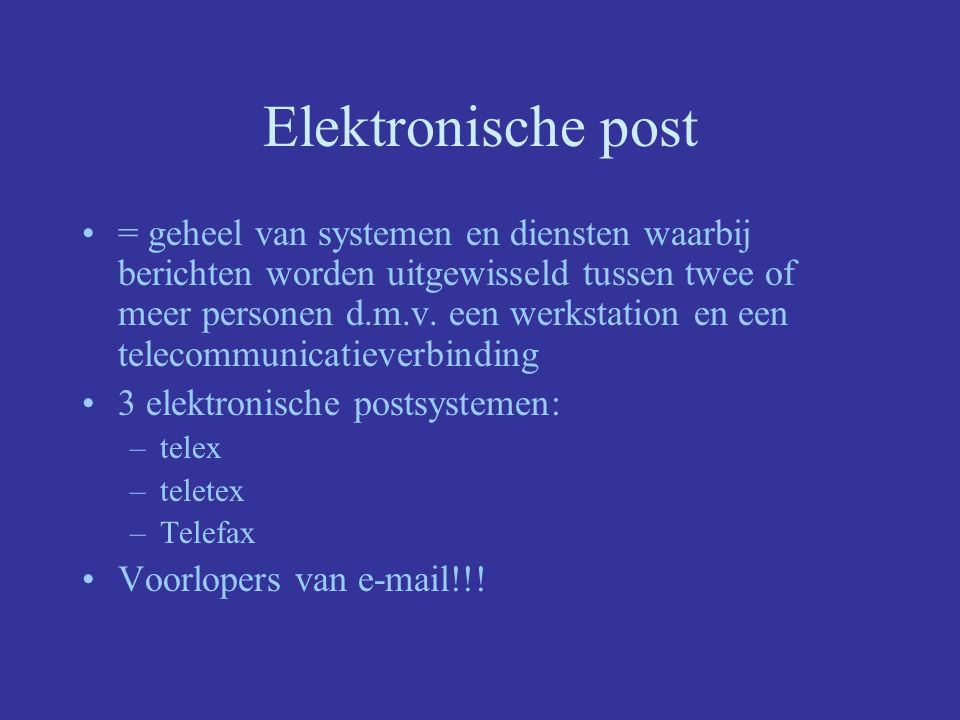 Elektronische post