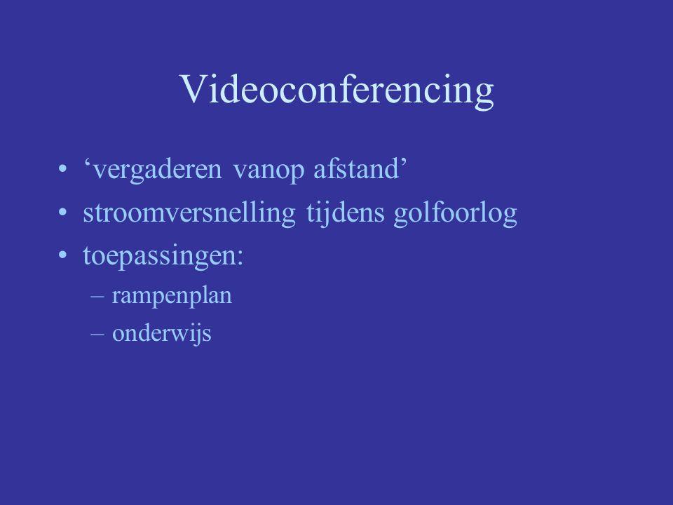 Videoconferencing 'vergaderen vanop afstand'