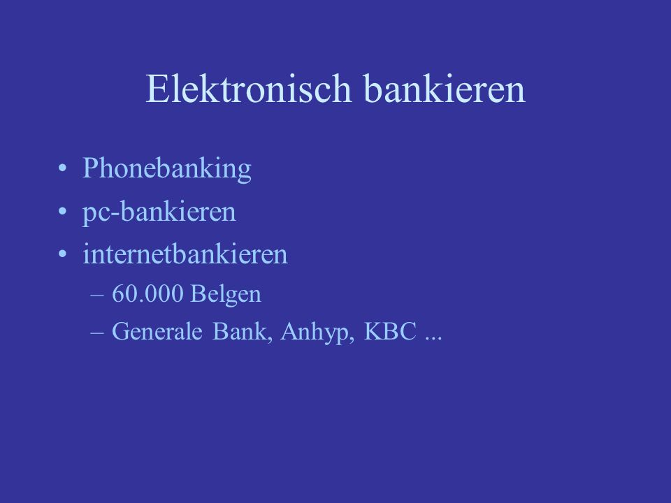 Elektronisch bankieren