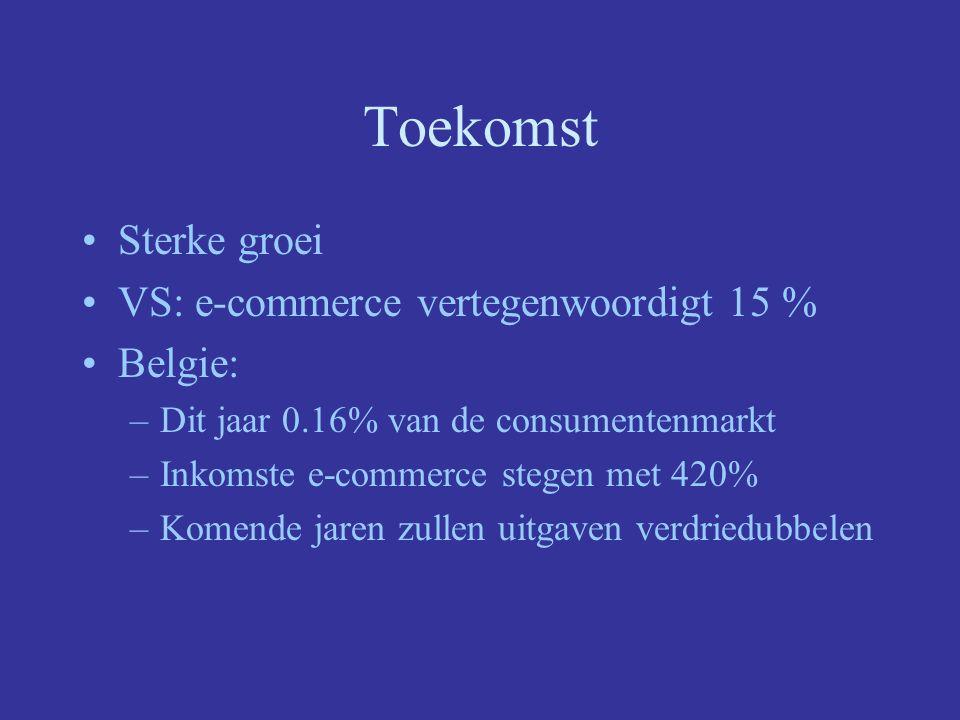 Toekomst Sterke groei VS: e-commerce vertegenwoordigt 15 % Belgie: