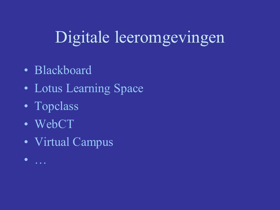 Digitale leeromgevingen