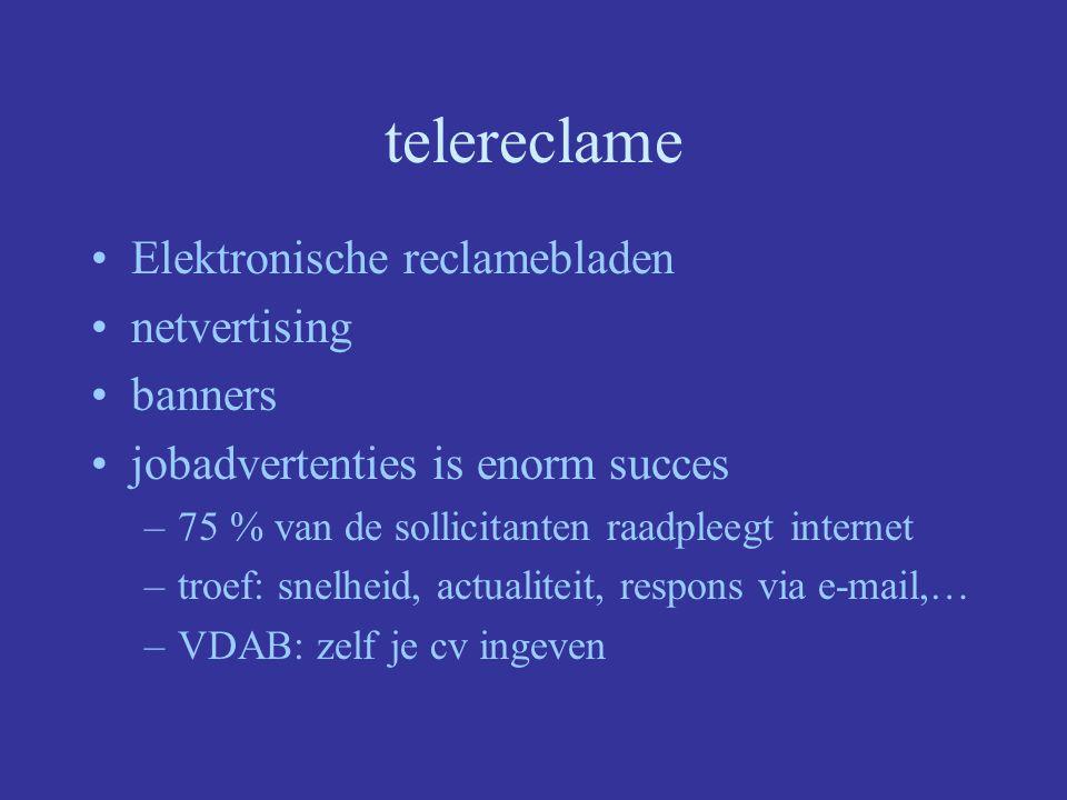 telereclame Elektronische reclamebladen netvertising banners