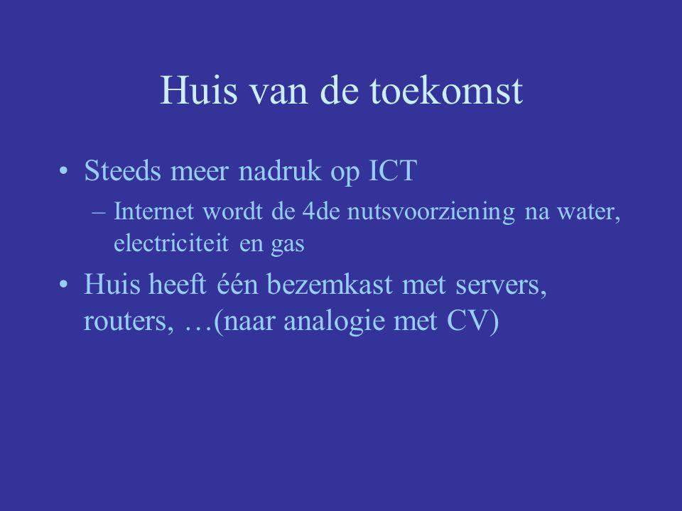 Huis van de toekomst Steeds meer nadruk op ICT
