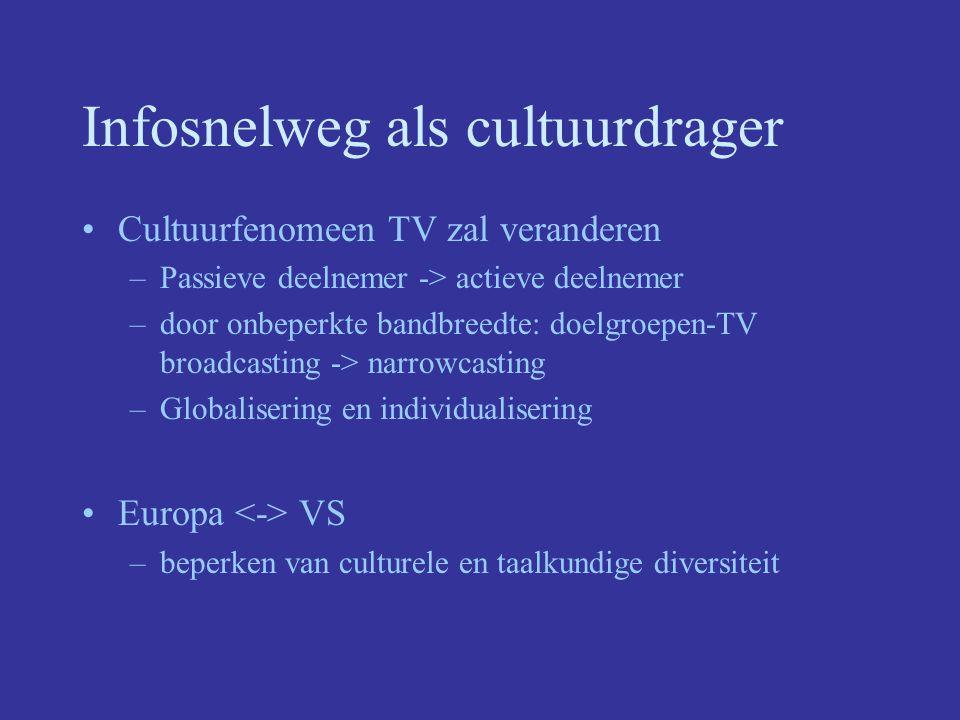 Infosnelweg als cultuurdrager