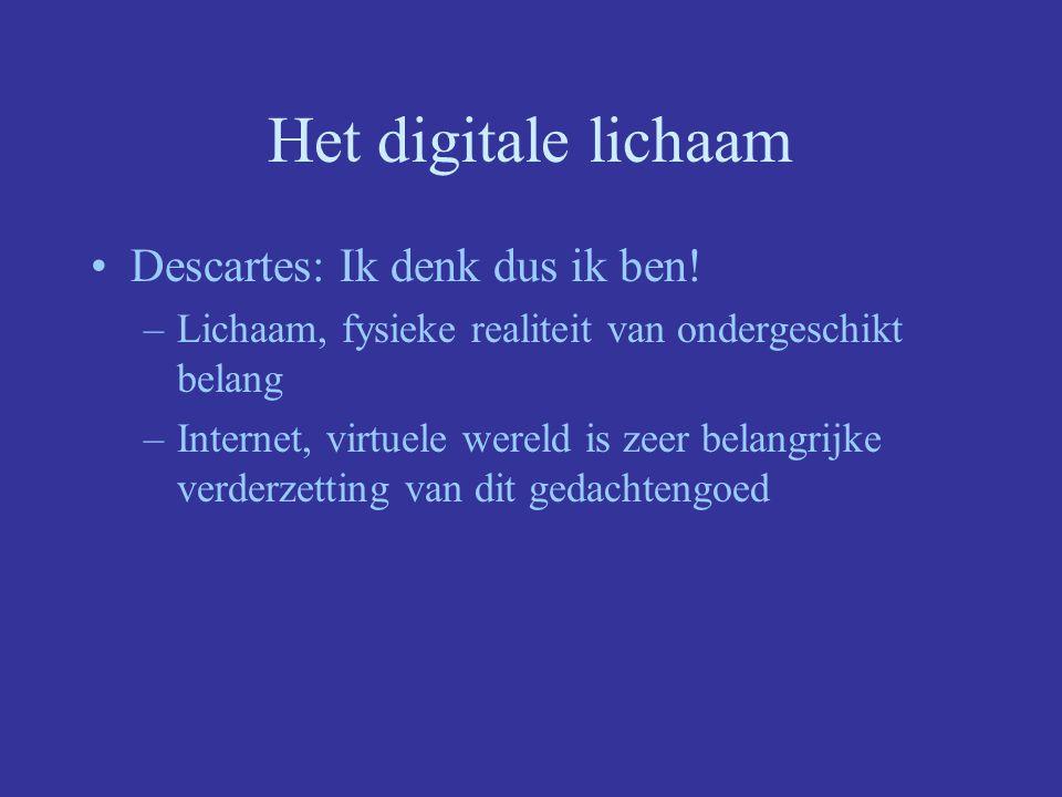 Het digitale lichaam Descartes: Ik denk dus ik ben!