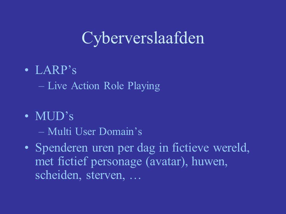 Cyberverslaafden LARP's MUD's