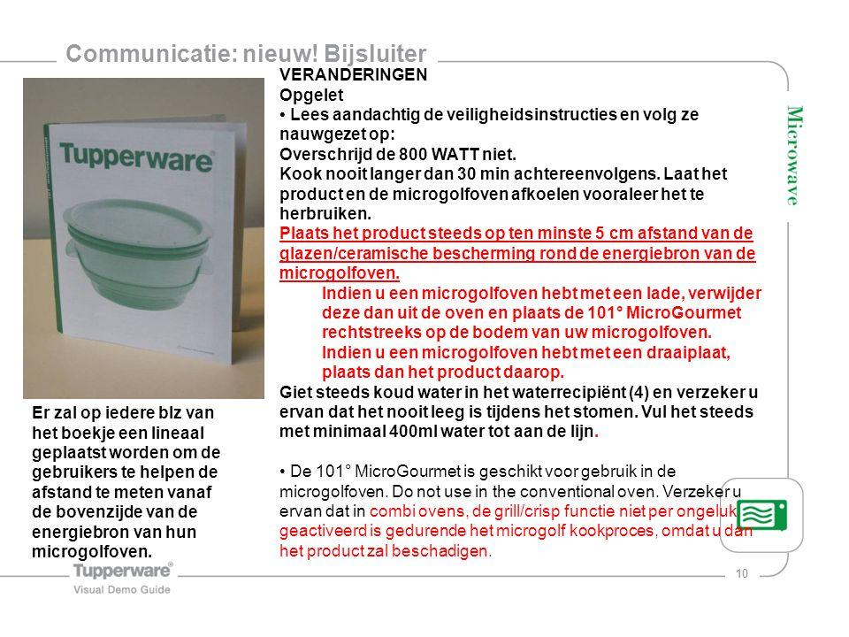 Communicatie: nieuw! Bijsluiter