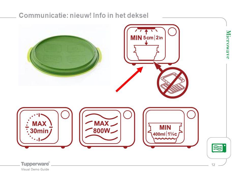 Communicatie: nieuw! Info in het deksel