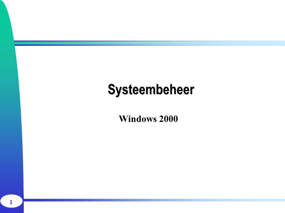 Systeembeheer Windows 2000