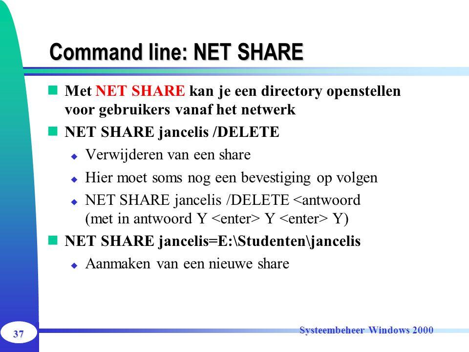 Command line: NET SHARE