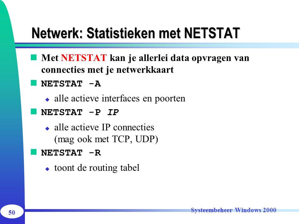 Netwerk: Statistieken met NETSTAT