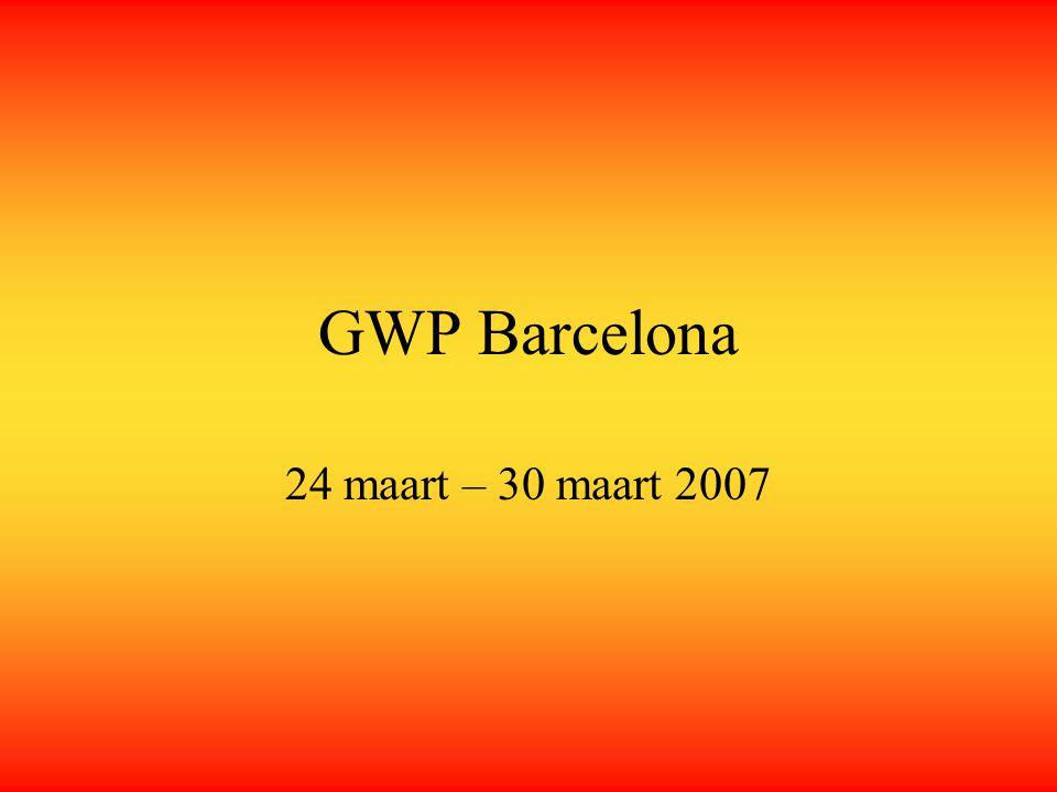GWP Barcelona 24 maart – 30 maart 2007