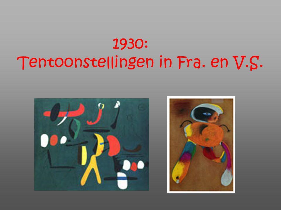 1930: Tentoonstellingen in Fra. en V.S.