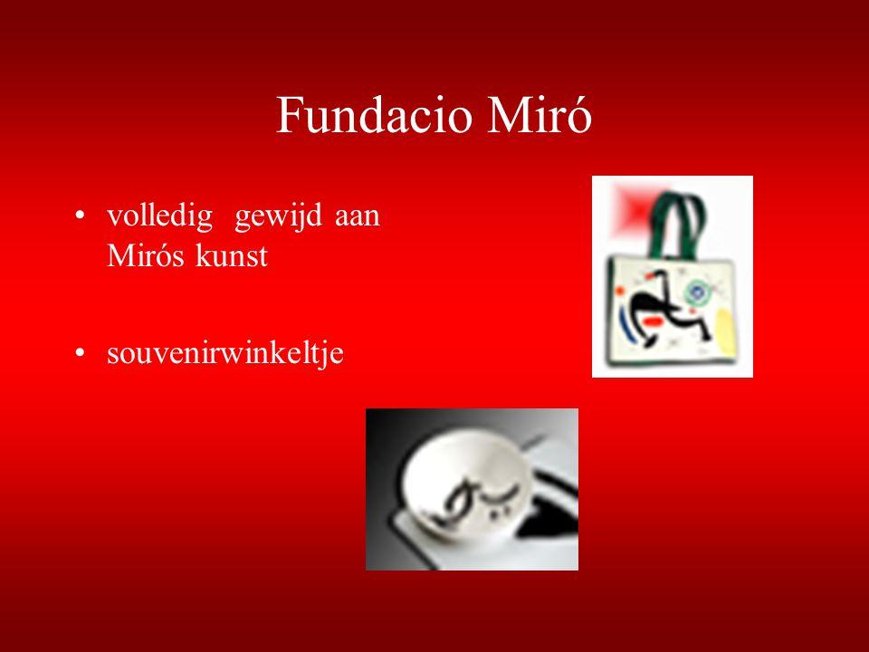 Fundacio Miró volledig gewijd aan Mirós kunst souvenirwinkeltje