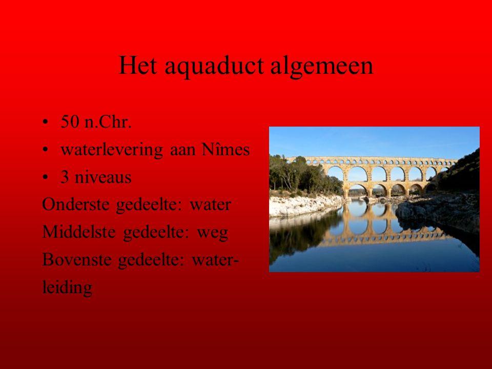 Het aquaduct algemeen 50 n.Chr. waterlevering aan Nîmes 3 niveaus