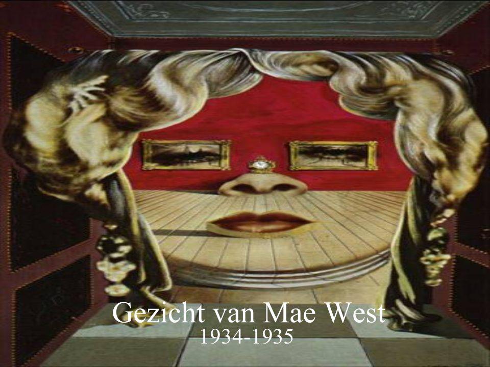 Gezicht van Mae West 1934-1935