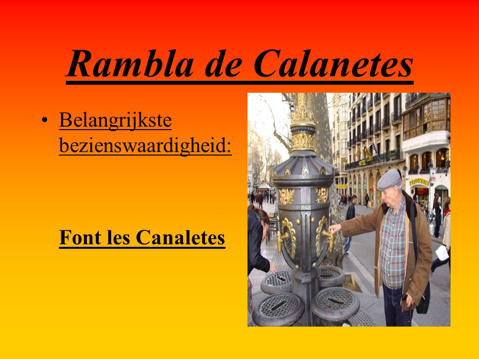 Rambla de Calanetes Belangrijkste bezienswaardigheid: