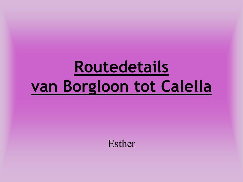 Routedetails van Borgloon tot Calella