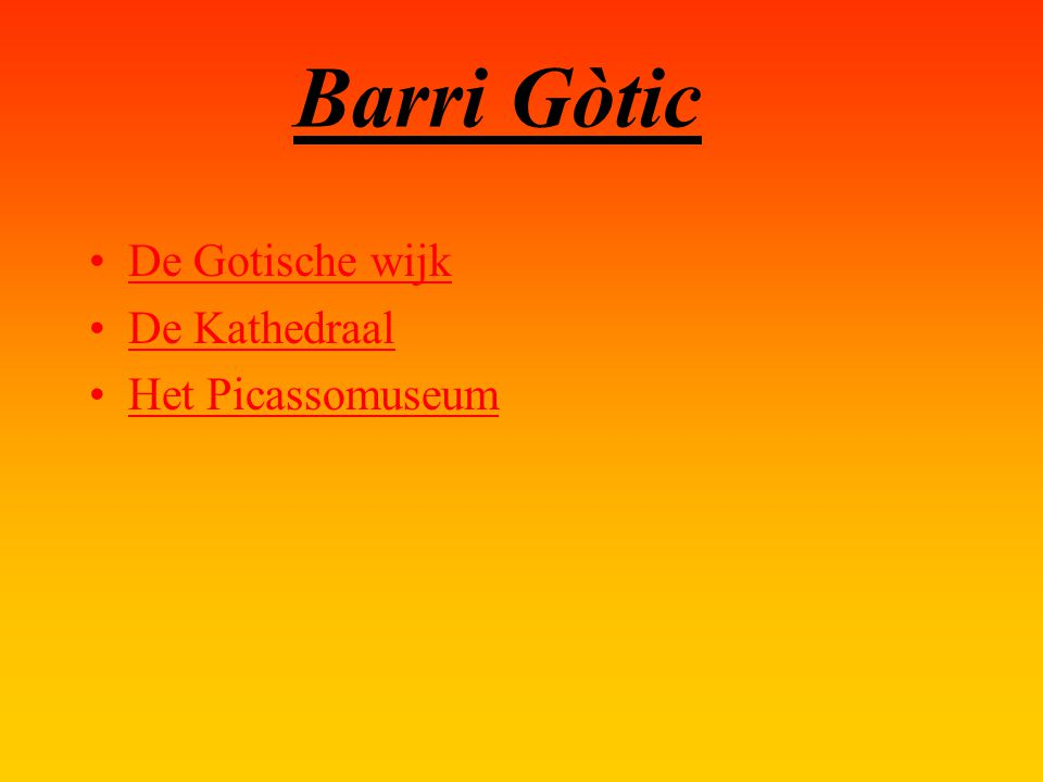 Barri Gòtic De Gotische wijk De Kathedraal Het Picassomuseum