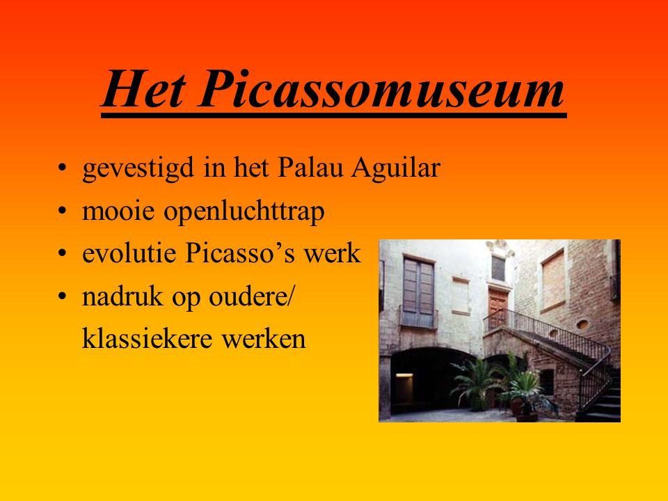Het Picassomuseum gevestigd in het Palau Aguilar mooie openluchttrap