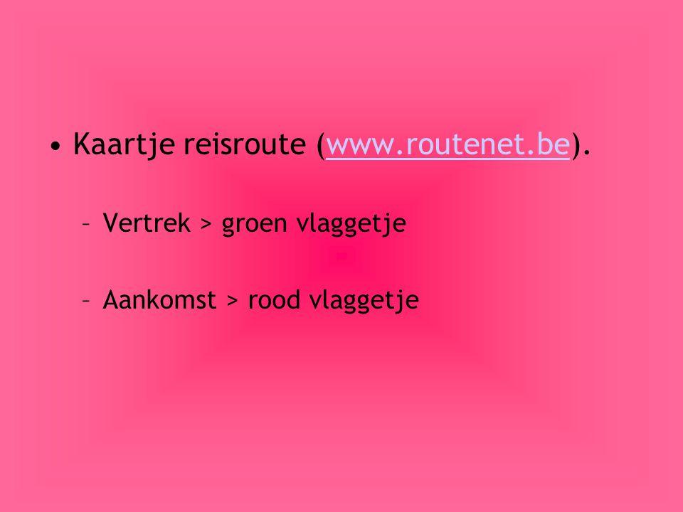 Kaartje reisroute (www.routenet.be).