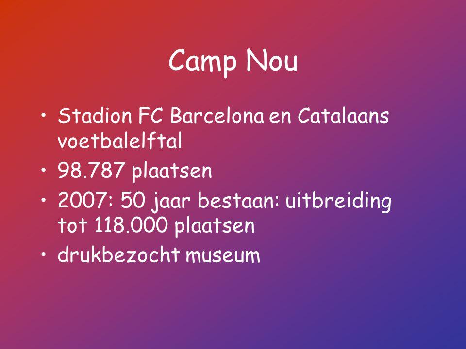 Camp Nou Stadion FC Barcelona en Catalaans voetbalelftal