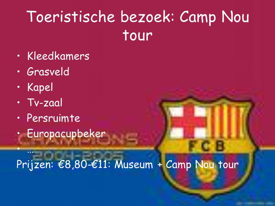 Toeristische bezoek: Camp Nou tour