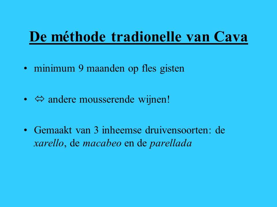 De méthode tradionelle van Cava