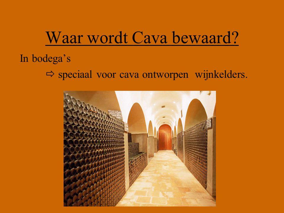 Waar wordt Cava bewaard