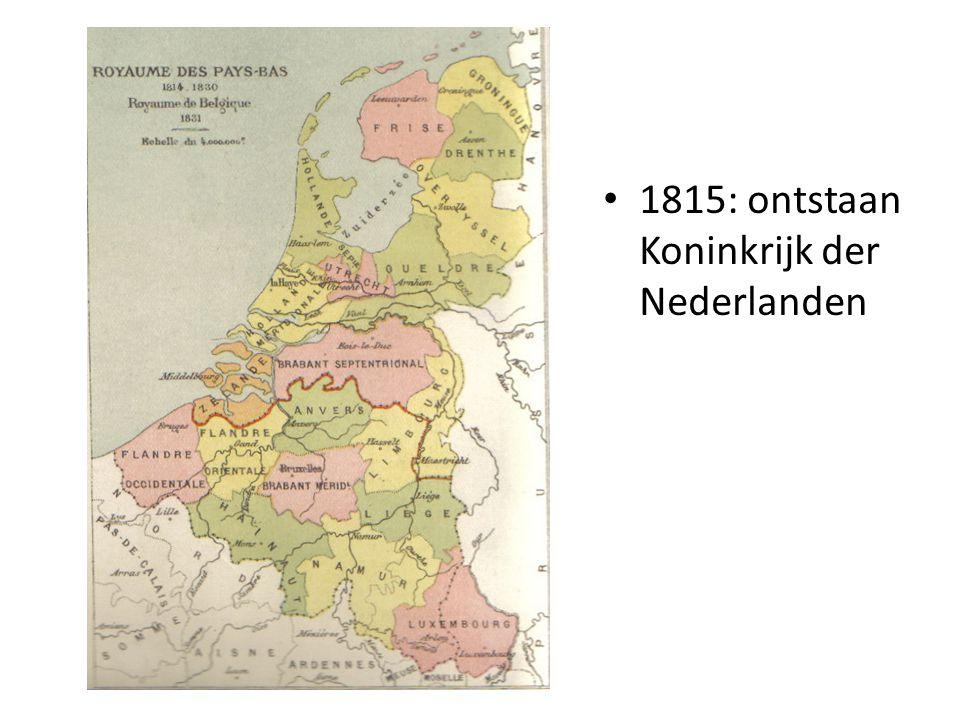 1815: ontstaan Koninkrijk der Nederlanden