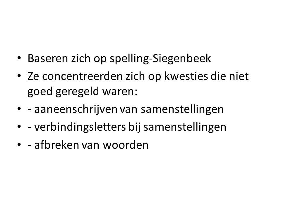 Baseren zich op spelling-Siegenbeek
