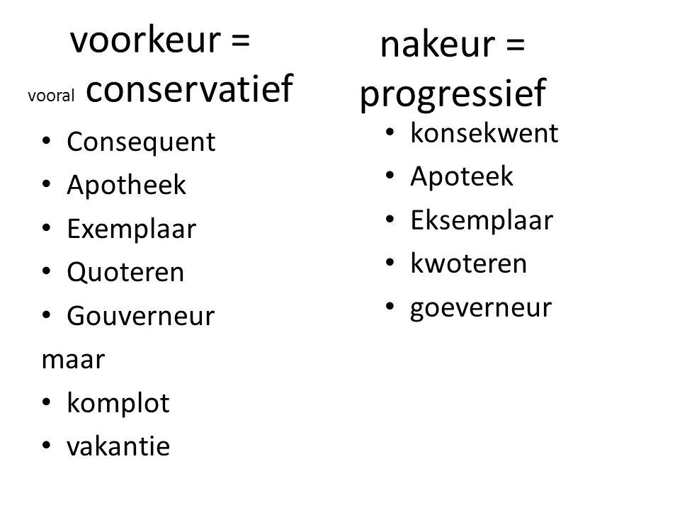 voorkeur = vooral conservatief