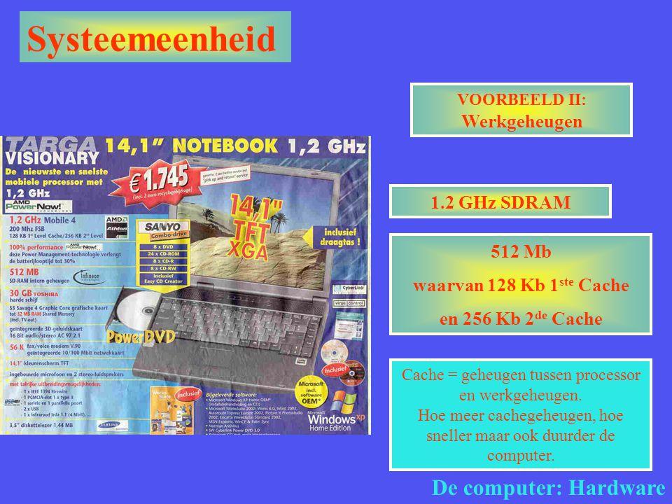 VOORBEELD II: Werkgeheugen