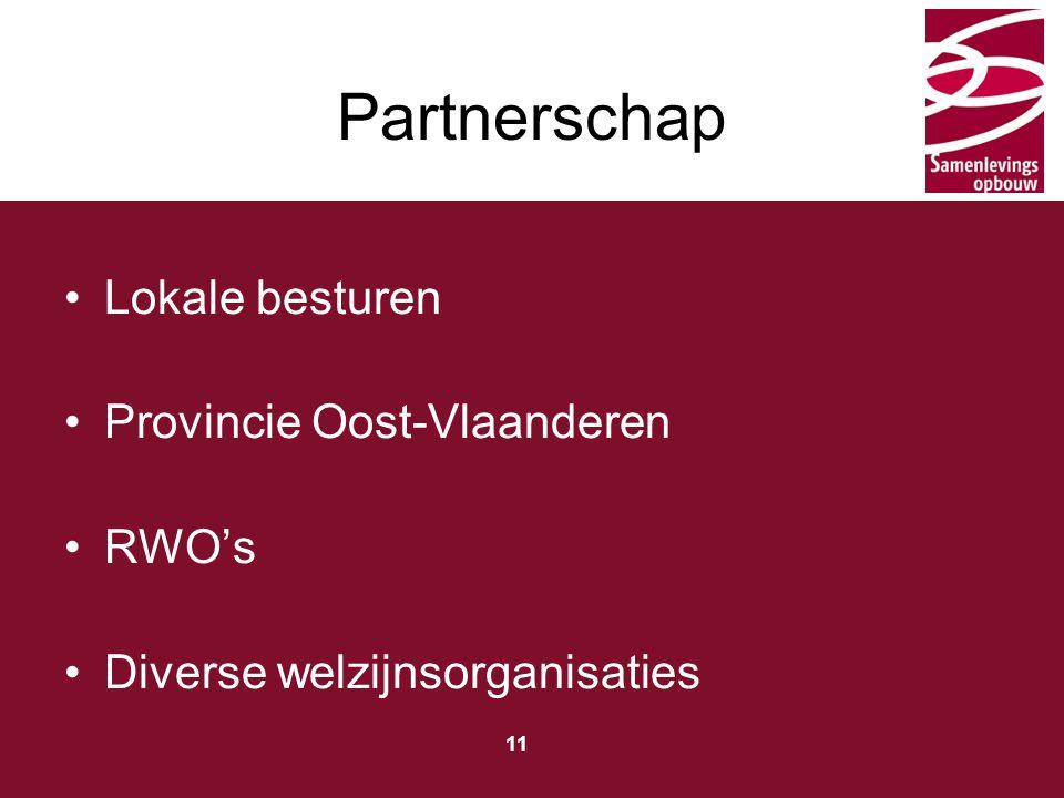 Partnerschap Lokale besturen Provincie Oost-Vlaanderen RWO's