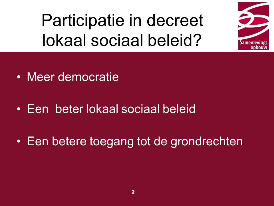 Participatie in decreet lokaal sociaal beleid