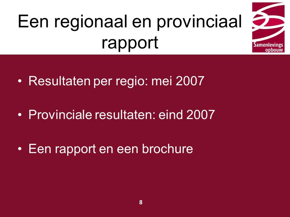 Een regionaal en provinciaal rapport