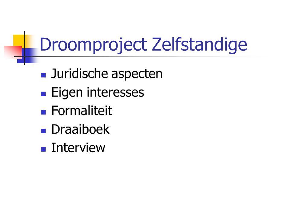 Droomproject Zelfstandige