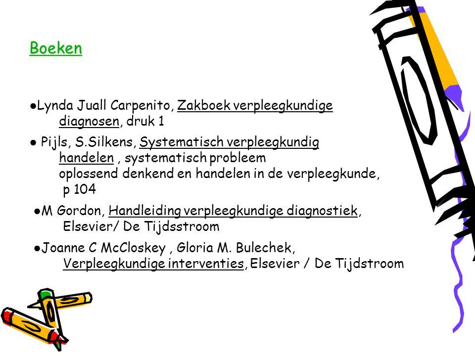 Boeken ●Lynda Juall Carpenito, Zakboek verpleegkundige diagnosen, druk 1.