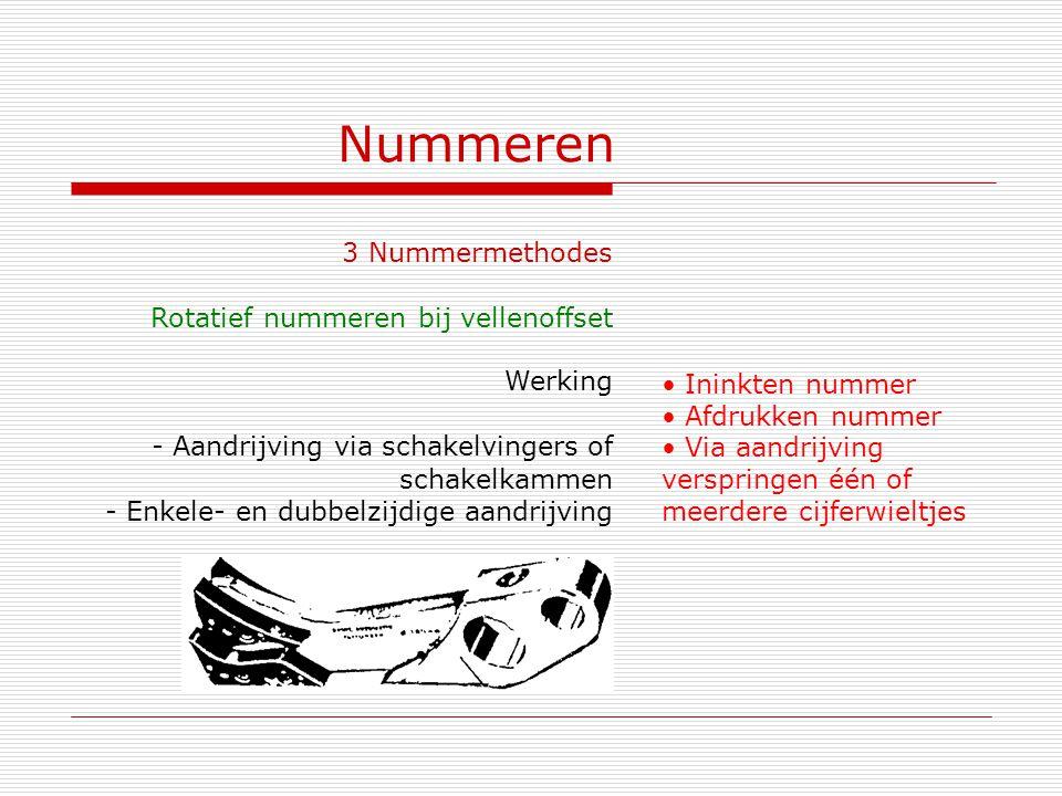 Nummeren 3 Nummermethodes Rotatief nummeren bij vellenoffset Werking