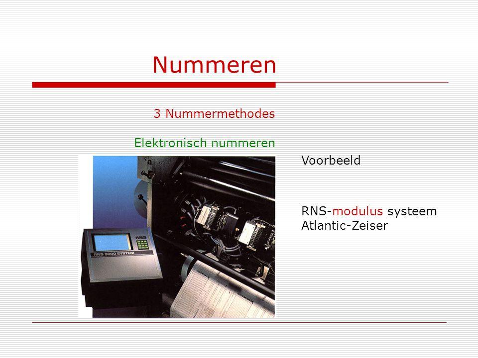 Nummeren 3 Nummermethodes Elektronisch nummeren Voorbeeld