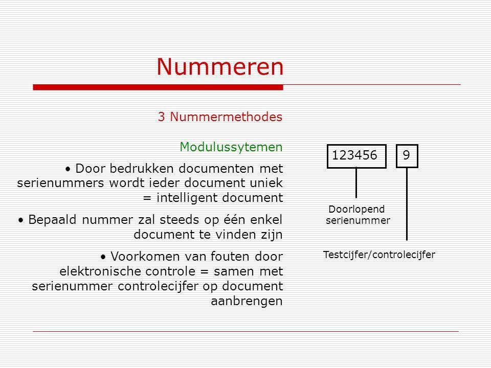 Testcijfer/controlecijfer