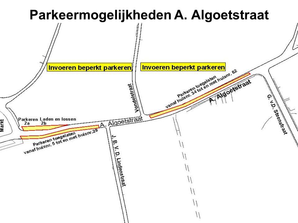 Parkeermogelijkheden A. Algoetstraat