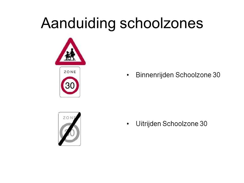 Aanduiding schoolzones